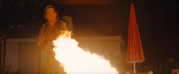 Once Upon A Time In Hollywood Flamethrower